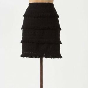 Anthropologie HD in Paris tiered fringe skirt 4